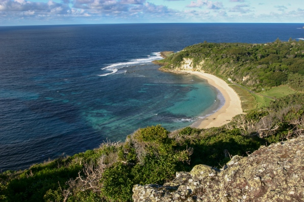 Ned Beach, from Maabar Hill (Lord Howe Island)