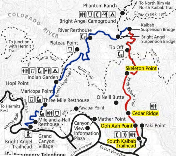 Map-South-Kaibab-and-Bright-Angel-Trail