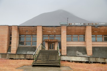 Yuri Gagarin swimming pool complex in Pyramiden