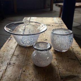 Glass products at Glasshytta Vikten As (photo from Glasshytta Facebook page)