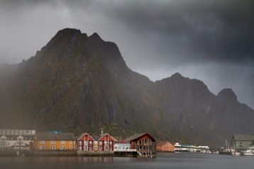 Fløya behind the town of Svolvaer