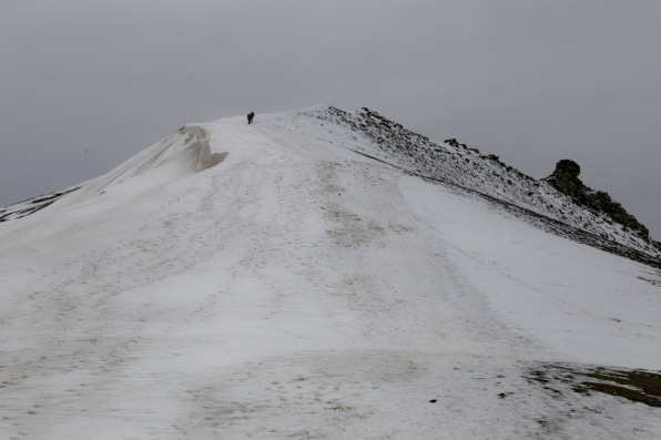 Ridge up to Trollsteinen summit