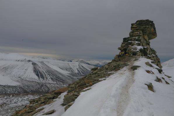 Trollsteinen summit, at 850m above sea level
