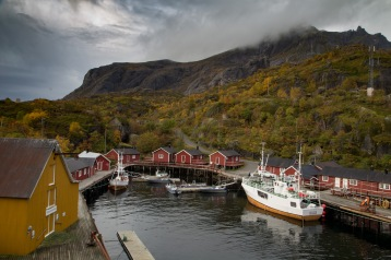 The village of Nusfjord, which was one of the most important fishing villages in Lofoten