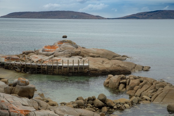 Harbour and jetty at Palana (Flinders Island)