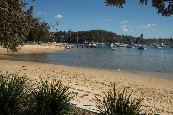 View of the sheltered beach from Clontarf Reserve