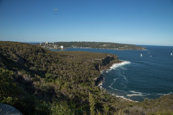 Views from Crater Cove, with Manly visible top left