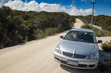 Our car for the week from Fraser Island Car Hire