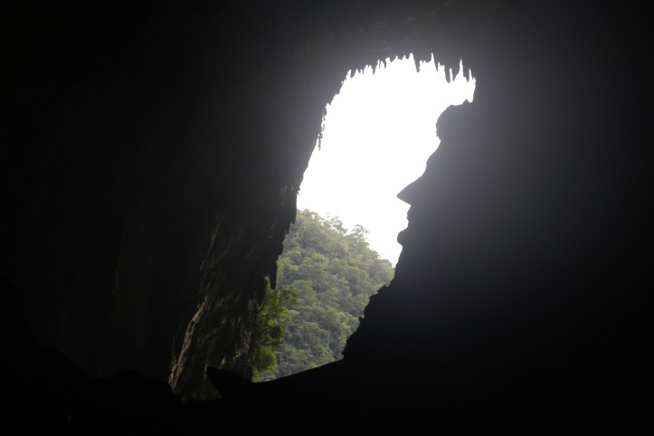 Face in the rock, Deer Cave (Mulu NP)