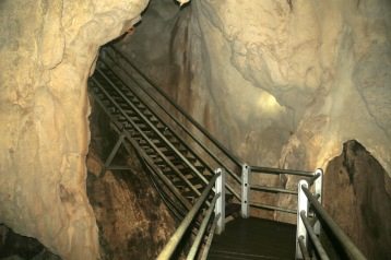 Steel stairs near entrance to Wind Cave