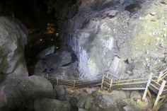 Last set of steps leading out of Clearwater Cave
