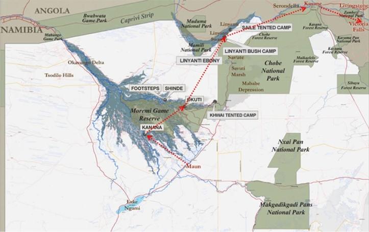 Botswana-map