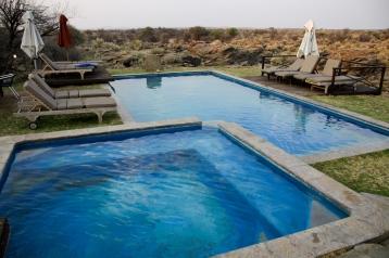 Swimming pool at N/a'an ku sê (Naankuse) Lodge