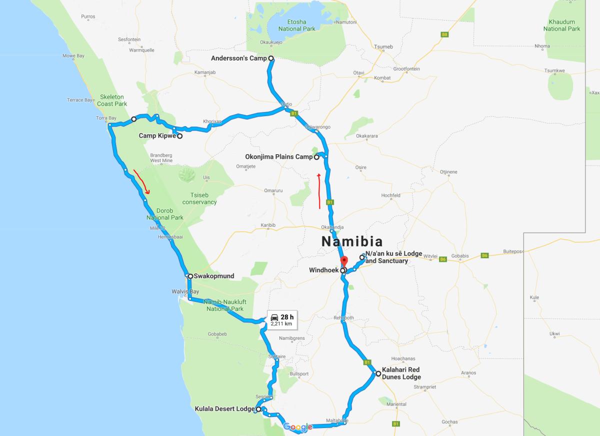 Map-Namibia