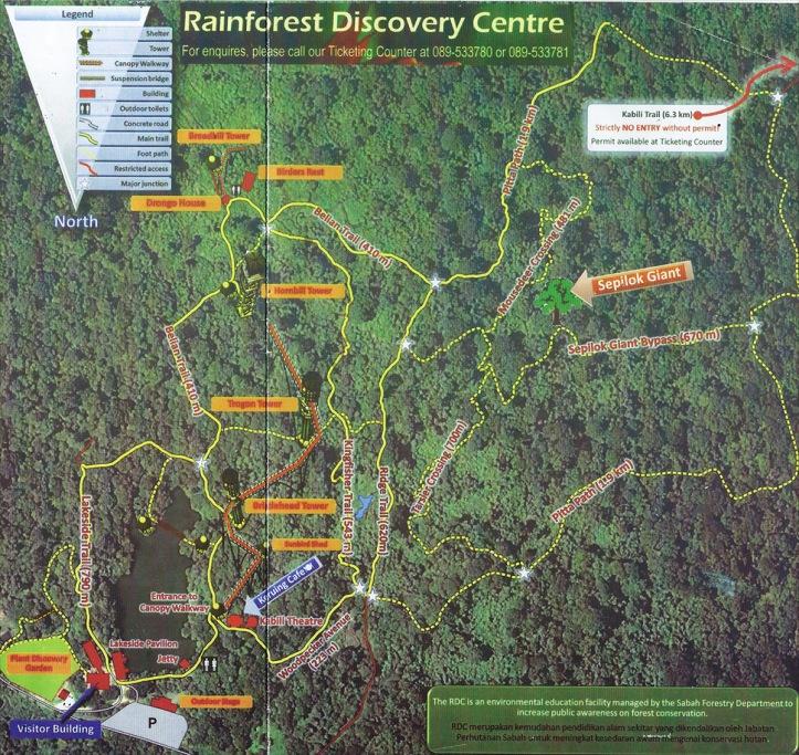 Sepilok-Rainforest-Discovery-Centre-Map