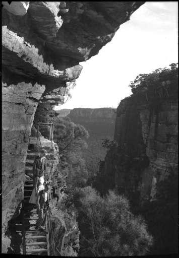 Staircase to summit Orphan Rock. Source: http://nla.gov.au/nla.obj-159915959/